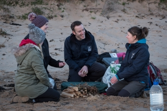 Our Wild Coast_Chris and Louise with group_BBC Countryfile Feb 2018_Dilys Thompson