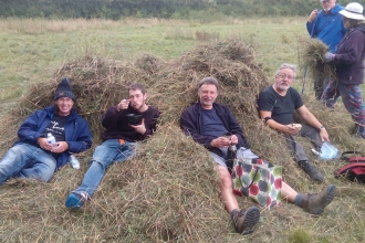 Volunteers and Hay