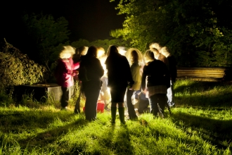 People enjoying a moth trapping event_ Ross Hoddinott-2020vision.