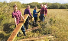 Cors Coch Nature Reserve volunteers