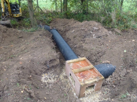 Artificial badger sett under construction by Enfys Ecology