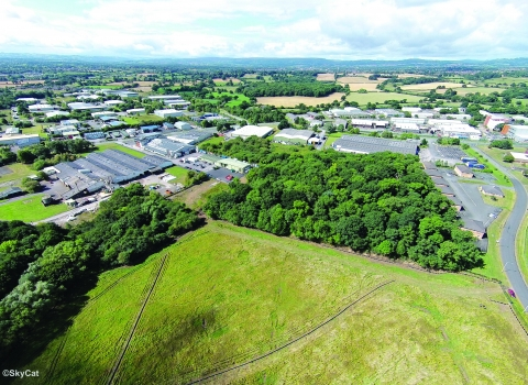 Wrexham Industrial Estate Living Landscape panorama